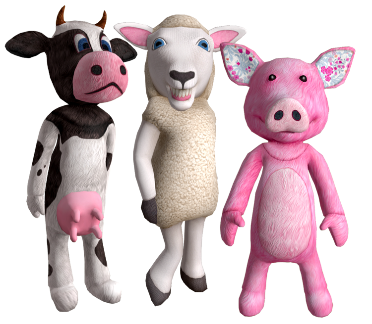 Cow, Sheep & Pig